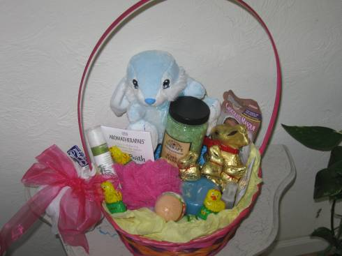 Spa gift baskets spafromscratch easter gift basket for spa day negle Choice Image
