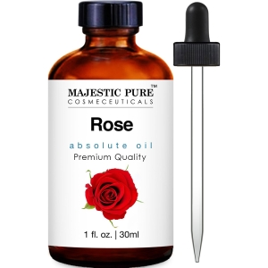 Majestic Pure Rose Oil Absolute, Premium Quality, 1 Fluid Ounce