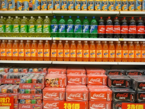 Fructose products at the supermarket